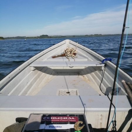 Rutland water boat fishing one man in a boat