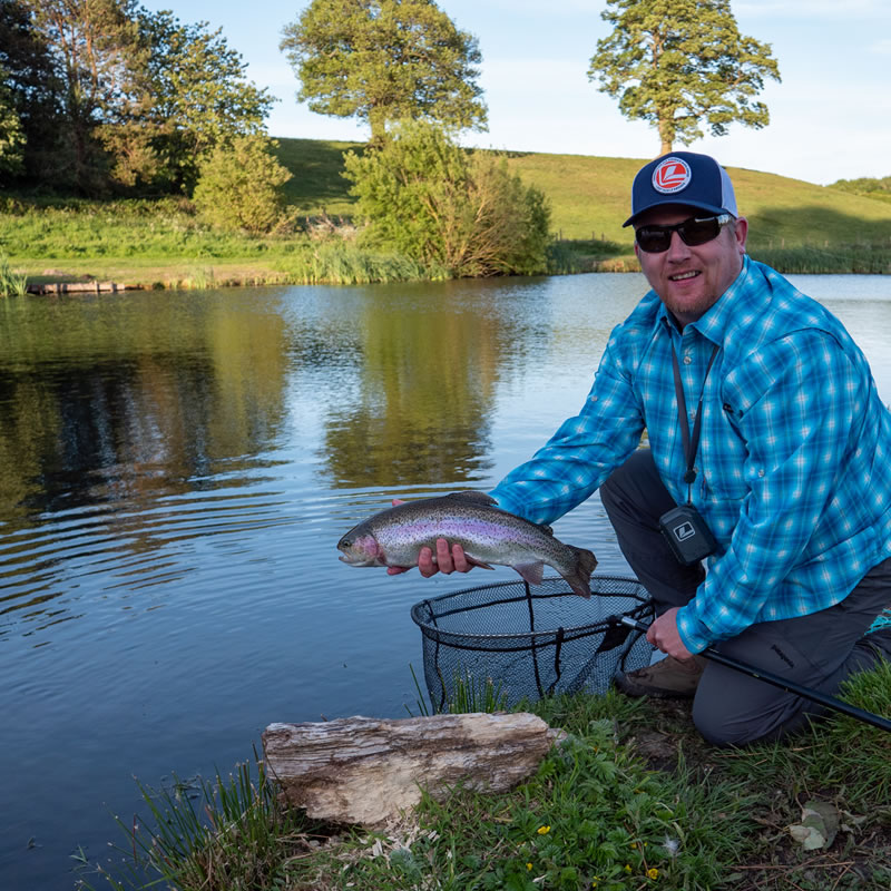 wayne jones at wal goch trout fishery
