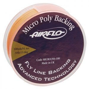 Fill up your reel with the Airflo Micro Poly Backing. AMPB is the most popular backing material on the market, coated to ensure it's longevity. Fly line backing serves two basic purposes. The first is to fill up your reel so that your fly line completes the filling of your reel to within, say, 1/8th inch of the spool capacity. The second is to still stay connected when a big fish strips of all your fly line.