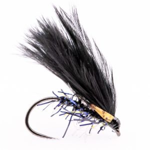 Deadly trout catching Barbless black UV Jungle cock cormorant