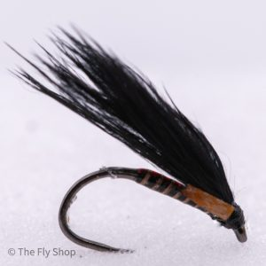 Barbless Black Quill Jungle Cock Cormorant With Red Holographic Shell Back