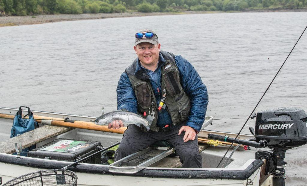 wayne Jones with a nice Brenig blue trout