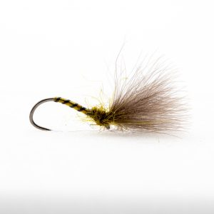 Olive Shuttle Cock this is a must have fly in any dry fly anglers box. This has proven its self over many years and all over the world. If olives are hatching this will catch the fish if presented correctly. Proven for rainbow trout but also very good for wild brown trout. Best fished on the point of a dry fly cast or as a single dry fly targeting rising fish.