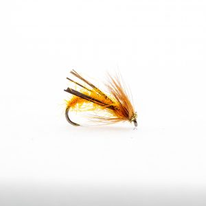 AMBER Midas is an amazing dry fly that looks like nothing but seems to be able to pull fish up and also good for targeting rising fish. This fly works best when it has been roughed up with velcro before use.