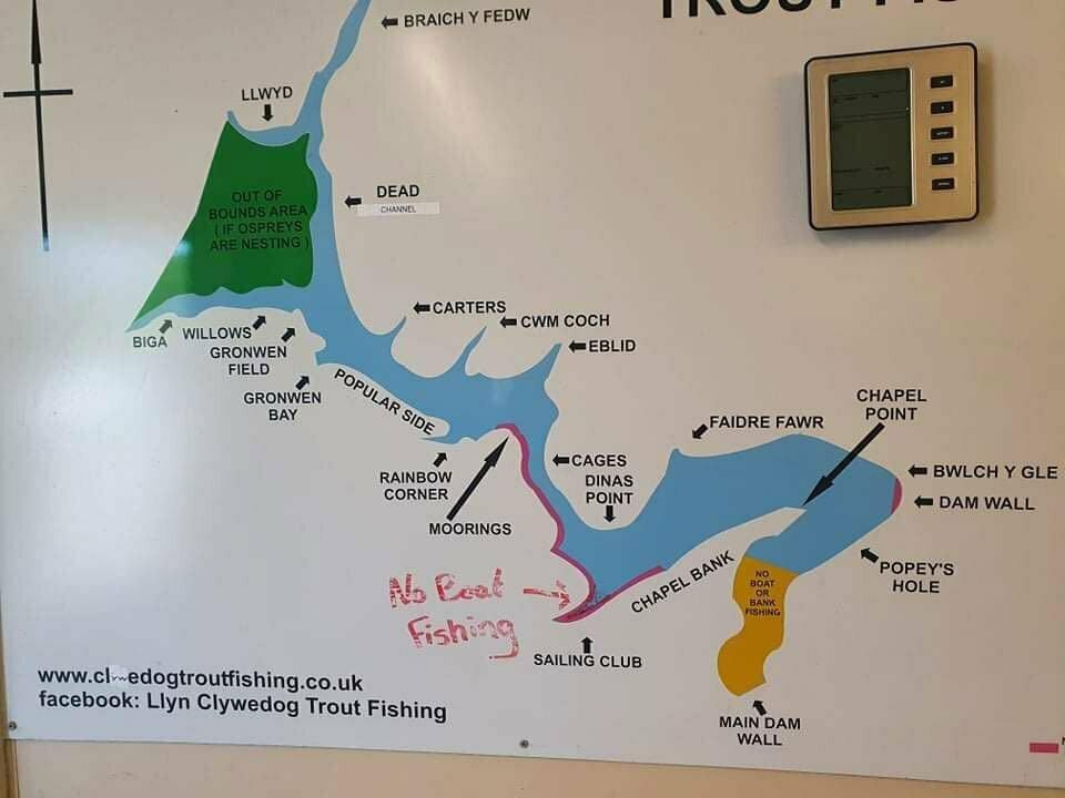 Map of Llyn Clywedog
