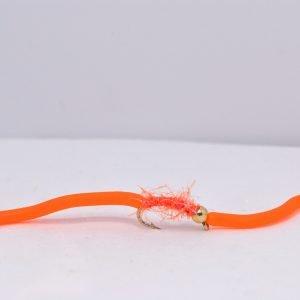 Orange UV Squirmy Worm scaled