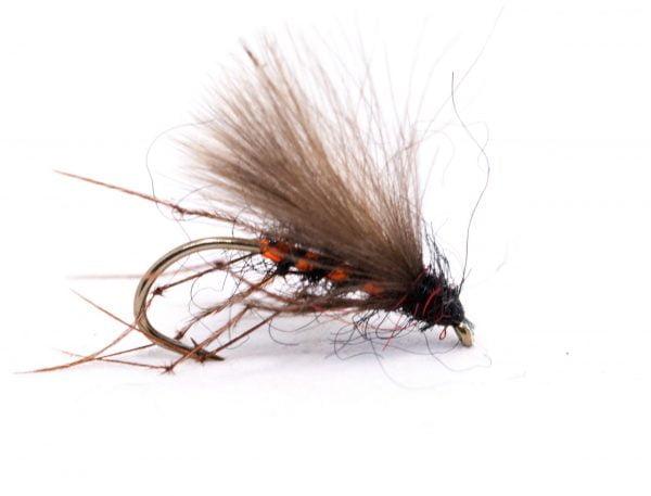 Fly Fishing Trout Flies 3x sz 10 Red Butt Black  Hopper